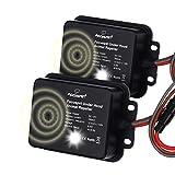 Focuspet 2er Pack Marderschreck Auto, Marderschutz für Auto 12 kHz Frequenz Marderabwehr Marderfrei mit LED Blitzlicht und Ultraschall Anschluss an 12V Autobatterie