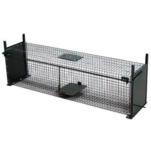 Moorland Safe 5007 extra große Lebendfalle 100x25x25 cm als Marder-Falle, Katzen-Falle, Fuchs-Falle mit 2 Eingängen